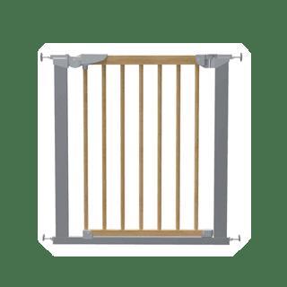 BabyDan TORA Wood True Pressure Fit Safety Gate silver/nature Icon