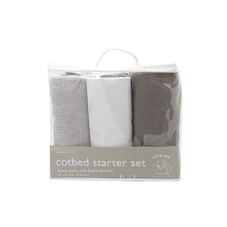 Elli & Raff 3PC Cot bed Starter Set Grey