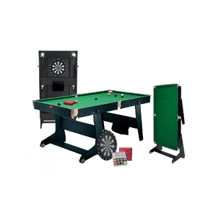 Riley 6' Folding Pool, Snooker, Tennis & Darts Table