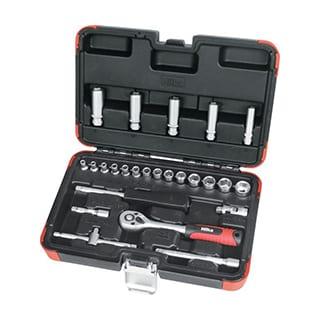 25 pce 1/4 Inch Drive Socket Set Metric