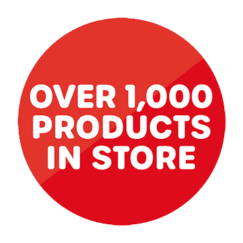 Over 1,000 products in store