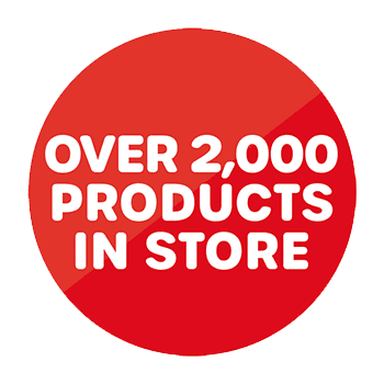 Over 2,000 products in store