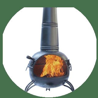 Gardecco Kobie steel chimenea Icon
