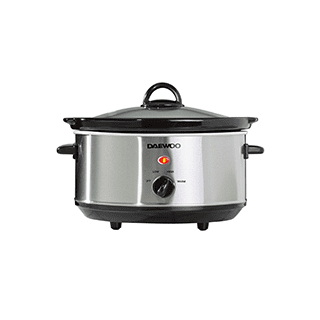 Daewoo Slow Cooker Stainless Steel 3.5L Icon