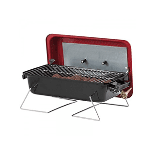 Portable Camping Gas BBQ with lava rock Icon