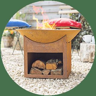 Gardecco MOHO Rusty Steel Firepit Icon