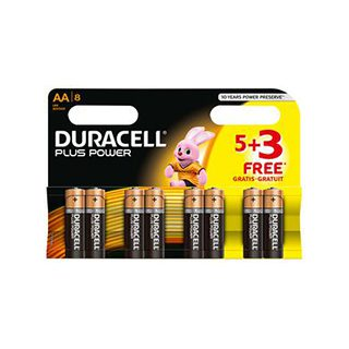 Duracell AA Plus Power 5 Pack + 3 Free £3.79