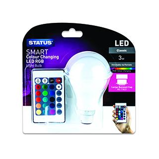 Status LED Colour Changing BC Bulb £5.35