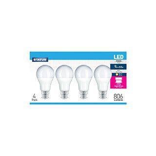 Status LED GLS BC Warm White Bulbs - 4 pk £4.99