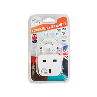 2PK Travel Adapter Australia/China