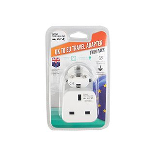 2PK Travel Adapter UK To Europe