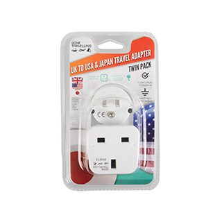 2PK Travel Adapter USA/Japan