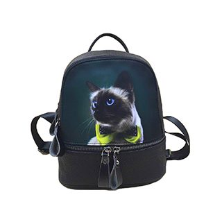 Animal Print Cat In A Bow Tie Small Backpack £8.49 Roll over