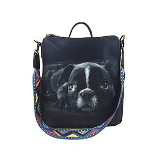 Animal Print Frenchie Large Backpack £8.49 Roll over