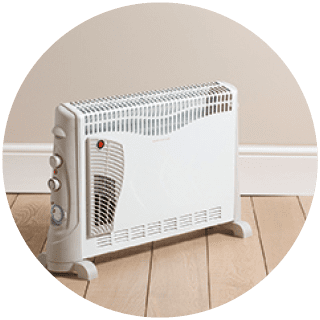 Convector Heater W Turbo & Timer £22.99