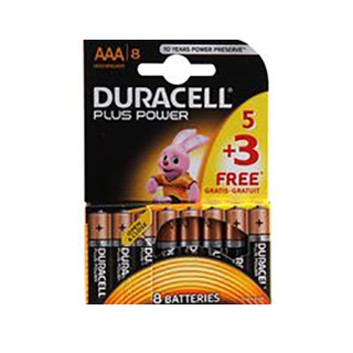 Duracell AAA Plus Power 5 Pack + 3 Free Price £3.70