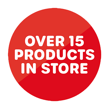 Over 15 products in store