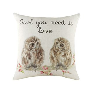 43cm K E Hedgerow Owls Cushion £8.49 Roll overs