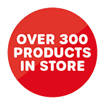 Over 300 products in store