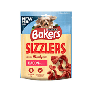 Bakers Sizzlers Bacon 90G Dog Treat £0.89p Icon