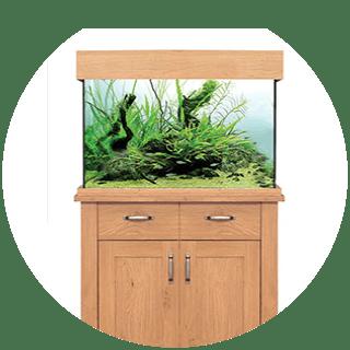 OakStyle Fish Tank 145L 81x37.5x55cm & Stand