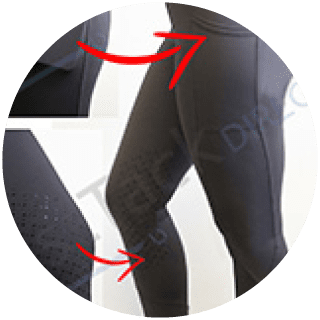 Gallop 'EnduranceHold' Black Silcone Knee Tights