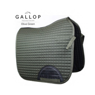 Gallop Green Quilted Saddle Pad
