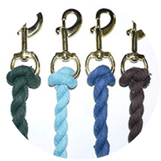 Gallop Navy Cotton Lead Rope