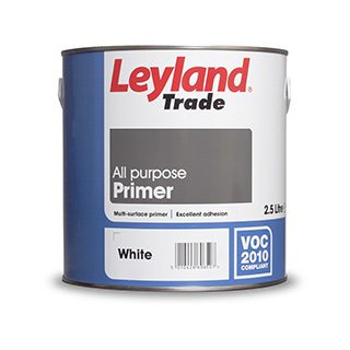 LEYLAND ALL PURPOSE PRIMER WHITE 2.5L Roll over