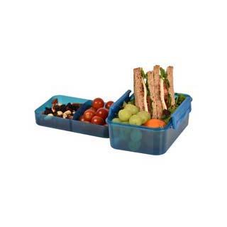 Lock & Lock large square divider lunch box 1.5L