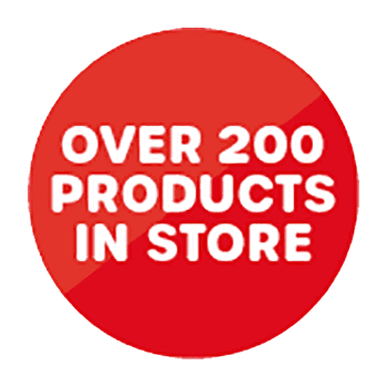Over 200 products in store