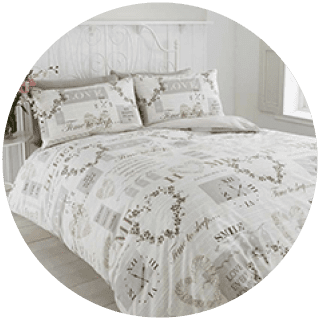 Pure natural duvet set easycare £8.99