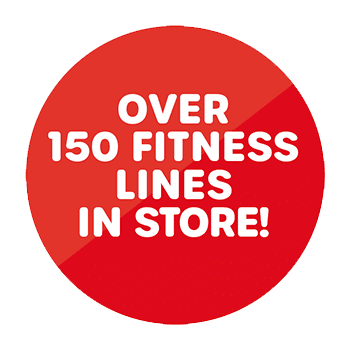 Over 150 fitness lines in store