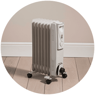 White Oil Heater 1500w £27.99