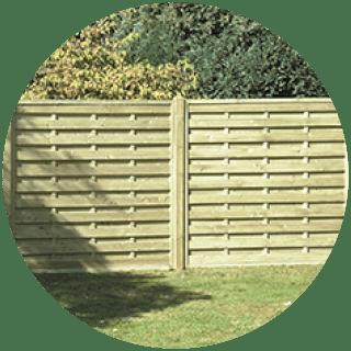 Straight Slat Fence Panel 1.8mt x 1.8mt £42.99 Icon