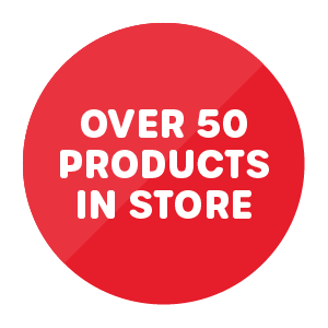 Over 50 products in store roundel