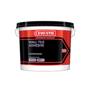 Evo-Stik Waterproof Wall Tile Adhesive 1L 2.5L 5L 10L £2.79 to £10.99