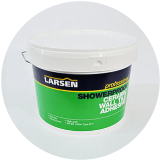 Larsen 10L Showerproof Tile Adhesive (15kg) £8.99