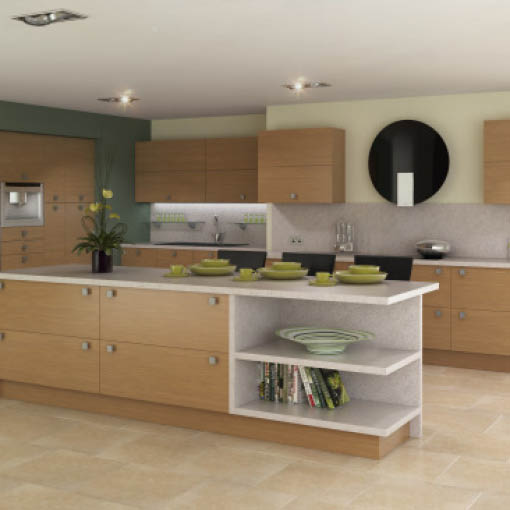 Photo of Lissa Oak Kitchen