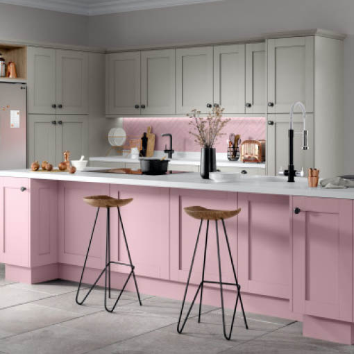 Photo of Moda Blush & Light Grey Kitchen