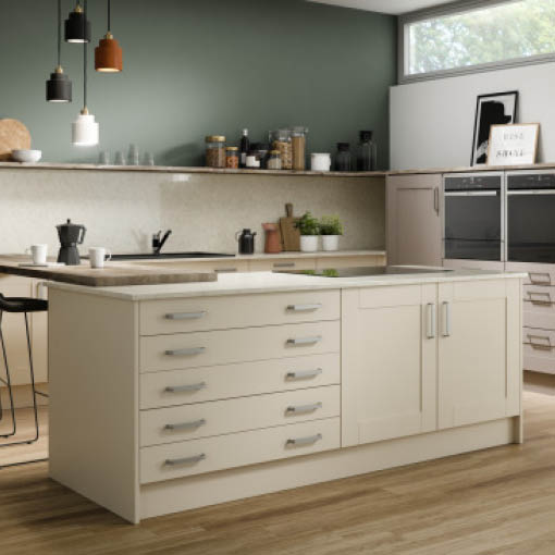 Photo of Moda Ivory Cashmere Shaker Kitchen
