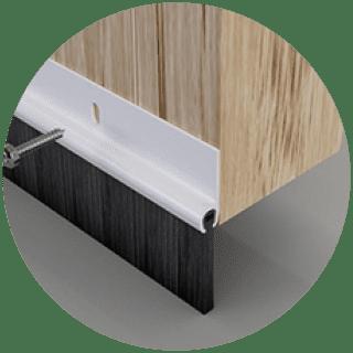 Stromguard Door Bottom Brush 914mm - White, Brown £3.09
