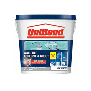 Unibond Wall Tile Adhesive Ready Mix - Ice White 6.4kg 12.8kg £12.99 to £19.69