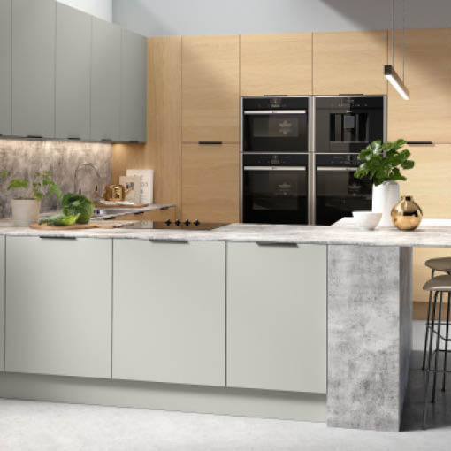Photo of Vogue Light Grey and Lisa Oak Kitchen