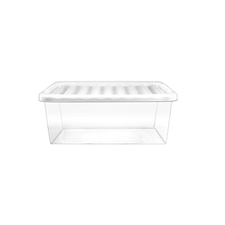 10L Clear Storage Box With Lid