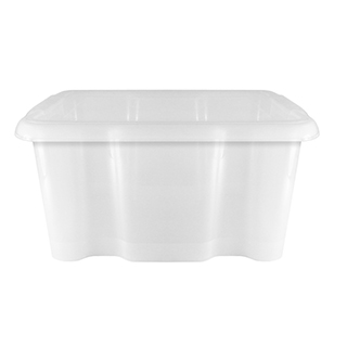 24L Clear Storage Box With Lid