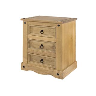 Corona 3 Drawer Bedside Cabinet £44.99 Icon