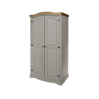 Corona Grey 2 Door Wardrobe £189.99 Icon