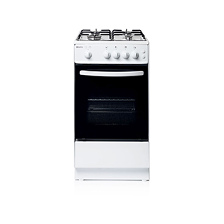Haden White Gas Single Cavity Oven 52 L with 4 Burner Hob