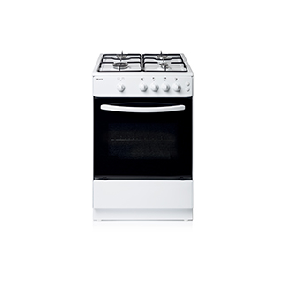 Haden White Gas Single Cavity Oven 64L With 4 Burner Hob